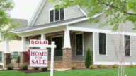 WS DS New Home with SOLD Sign in Front / Richmond, Virginia, USA