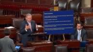 New Jersey Senator Robert Menendez returns to the Senate floor in opposition to Housepassed legislation called PROMESA to assist the US territory of...