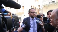 New Mayor of L'Aquila Pierluigi Biondi attends the visits of Giorgia Meloni in L'Aquila Italy on June 26 2017 In L'Aquila a city in central Italy...
