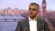 New Mayor of London Sadiq Khan talking about the Labour party antisemitism row and his own experiences with hate crimes