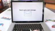New message on Laptop