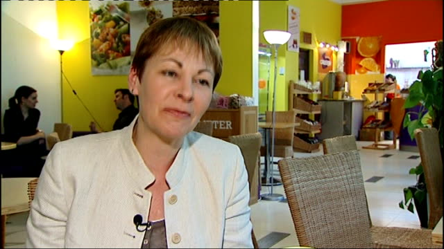 New MPs begin life at Westminster London Brighton Pavilion using Blackberry in cafe Caroline Lucas MP interview SOT Various shots John Woodcock MP...