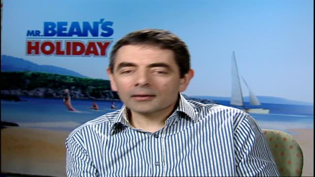 New Mr Bean film / interview Rowan Atkinson Rowan Atkinson interview SOT it was something I enjoyed doing very much