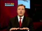 New proposals on exam boards / Increase in home education ENGLAND London GIR INT Ed Balls MP LIVE 2WAY interview from Bournemouth SOT On exam results...