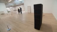 New Rachel Whiteread exhibition opens at the Tate Britain gallery in London London Tate Britain gallery INT Reporter and Rachel Whiteread into room...