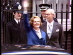 London 10 Downing Street Baroness Thatcher waves to crowd in Downing Street after being elected in 1979