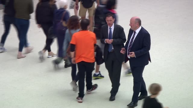 New South West Trains Managing Director promises improvements to service Waterloo Train Station Andy Mellors along on concourse with ITN Reporter