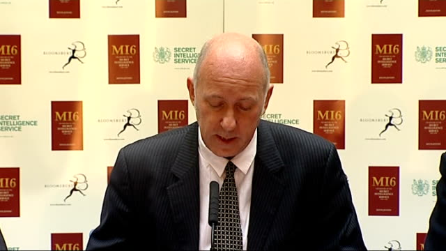 Press conference ENGLAND London Foreign Office INT Michael Fishwick press conference SOT Introduces himself author Sir Keith Jeffrey and former MIG...