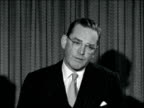 New US Ambassador to Britain arrives ENGLAND London Heathrow Airport EXT John Hay Whitney and wife Betsey Cushing Whitney down plane steps / MS CS...