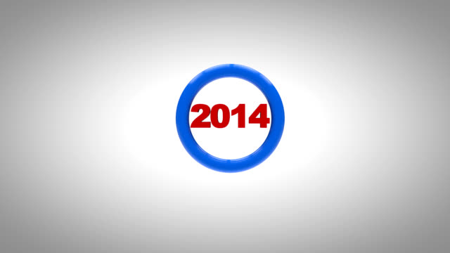 New year 2015 3d animation