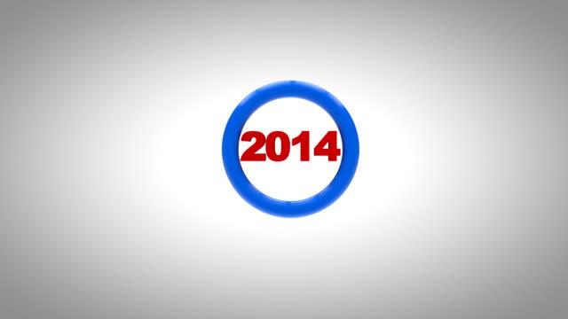 Neue Jahr 2015 3d-animation