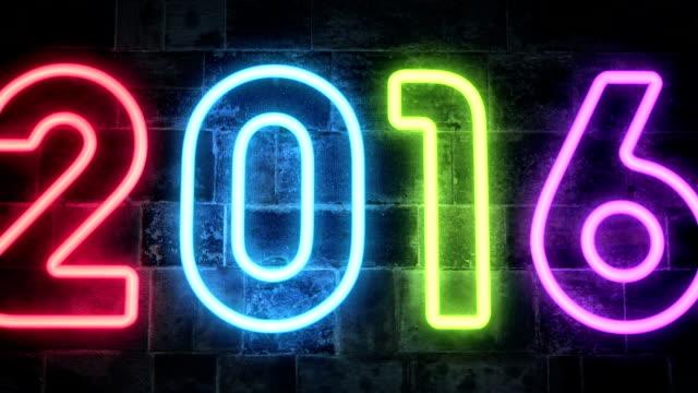 Nieuwjaar 2016 Neon licht