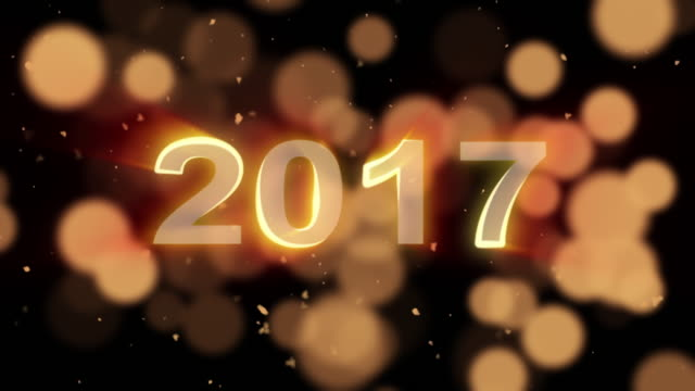 new year particle animation,2017