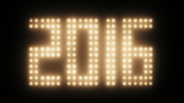 Neues Jahr 2016 durch alte Film-Effekt