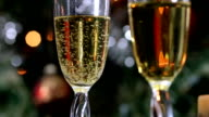 New Year's champagne in glasses