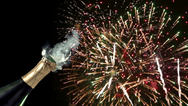 Image result for champagne and fireworks