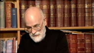 Sir Terry Pratchett ENGLAND INT Sir Terry Pratchett interview SOT Reacts to being knighted in the New Years Honours List / talks of his work and...