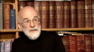 Sir Terry Pratchett Talks of how his Alzheimers Disease has affected his work / talks of learning about his knighthood / talks about what he is...