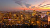 New York City Aerial Skyline at Dusk