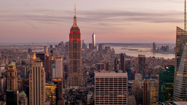 New York City skyline Luftbild