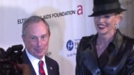 New York City Mayor Michael Bloomberg and Sharon Stone at the 8th Annual Elton John AIDS Foundation's 'An Enduring Vision' at New York NY