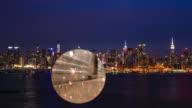 New York City Night Skyline Crowd traffic Busy Empire Binocular