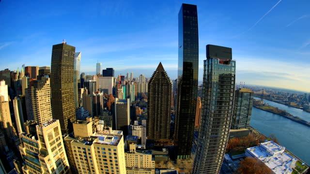 New York City Skyline: East River and upper Manhattan