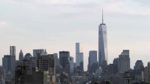 New York City Skyline looking south with Freedom tower
