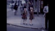 1953 New York City Street Scene, Family in the City