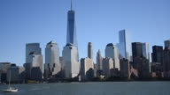 New York City: Urban Skyline in Daytime. Point of view from a tourism cruise