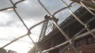 New York City's Williamsburg Bridge at sunset