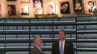 New York Governor Andrew Cuomo visits the Yad Vashem memorial in Jerusalem in memory of Jewish victims of the Holocaust at a time when there has been...