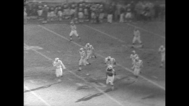 New York Jets play against the Boston Patriots / game begins / specific players mentioned are Emerson Boozer Joe Namath Don Maynard and George Sauer...