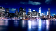 New York Manhattan di notte time lapse