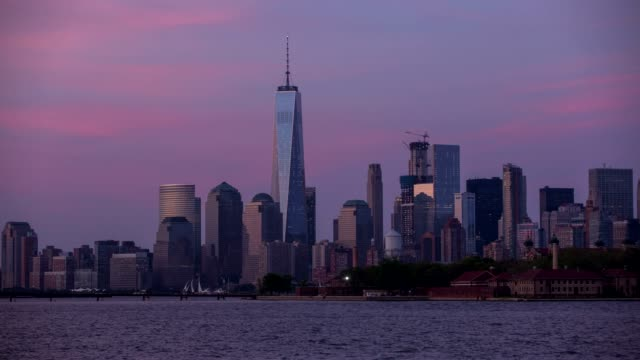 New York Manhattan panorama - Time lapse