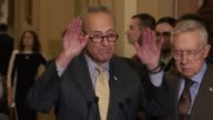 New York Senator Chuck Schumer discusses suspected terrorists having purchased firearms that 91 percent of suspected terrorists had done so according...