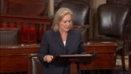 New York Senator Kirsten Gillibrand urges a vote on a bipartisan amendment to the fiscal 2018 national Defense authorization which would prohibit the...