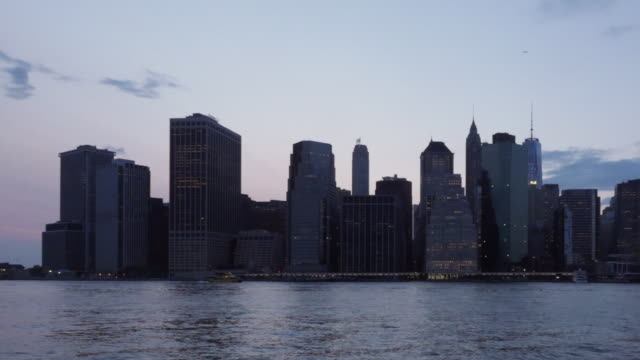 New York Skyline Day to Night time lapse