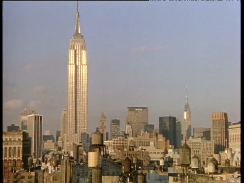New York skyline including Empire State Building and Chrysler building