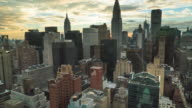 New York skyline time lapse.