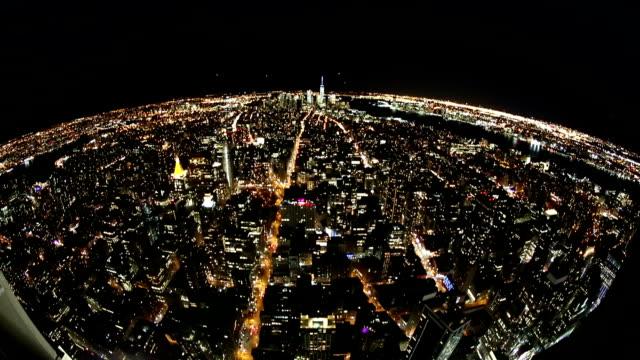 New York Skyline.Planning up-Effekt und Fish eye Objektiv.