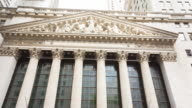 New York Stock Exchange, pan up
