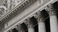 New York Stock Exchange - Wall Street - establishing shot - exterior - New York City - Summer 2016 - 4k
