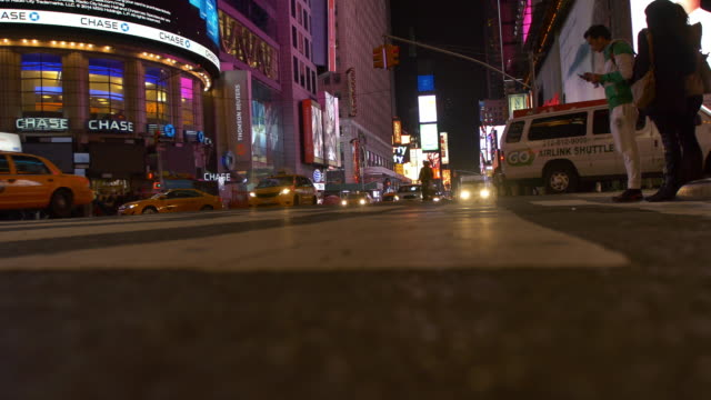 New York street at night