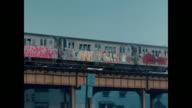 New York subway graffiti in the 1970s