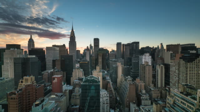 New York sunset time lapse.