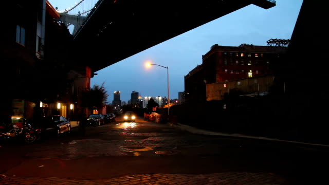 New York, under the Manhattan Bridge, DUMBO