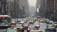 New YorkCity Street with taxis in New York United States