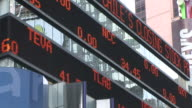 New YorkClose view of Electronic Display Board in New York United States
