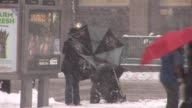 New Yorkers battle against snow storm Available in HD